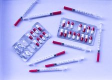Медицинский пакет волдыря пилюлек лекарства Стоковые Изображения RF