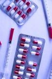 Медицинский пакет волдыря пилюлек лекарства Стоковые Фото