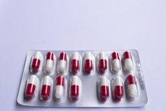 Медицинский пакет волдыря пилюлек лекарства Стоковое фото RF
