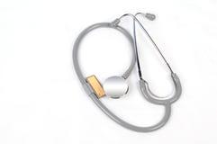 медицинский стетоскоп Стоковые Фотографии RF