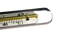 Медицинский термометр ртути, творческий комплект Стоковое фото RF