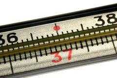 Медицинский термометр ртути, творческий комплект Стоковое Изображение