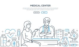 Медицинский центр - современная линия знамя стиля дизайна бесплатная иллюстрация