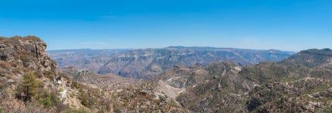 Медная панорама каньона Стоковые Фотографии RF