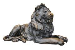 медная скульптура льва Стоковое Изображение