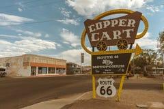 Медная тележка - маршрут 66 - Аризона - США стоковая фотография
