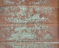 Медные доски с зелеными пятнами патины стоковое изображение rf