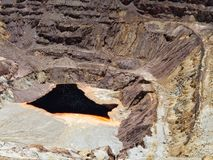 Медный рудник лаванды на Bisbee, Аризоне стоковая фотография