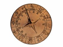 медный sundial Стоковые Фото