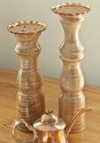 медь candlestands Стоковое фото RF