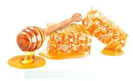 Мед и кусок стоковое изображение rf