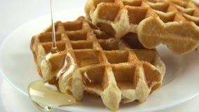 Мед пропускает waffles видеоматериал