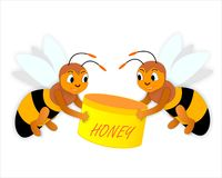 мед пчел Стоковая Фотография RF