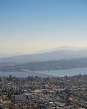 Межгосударственный 90 плавучий мост Сиэтл Стоковые Изображения RF