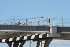 Межгосударственное строительство моста 69 около Хьюстона, Техаса стоковые изображения