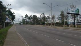 Международная дорога CA-5 - очаруйте город Siguatepeque Стоковые Фотографии RF