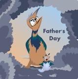 Международная концепция дня ` s отца иллюстрация штока