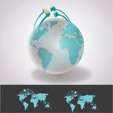 Международная перевозка груза пакета стоковая фотография rf