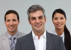 Международные бизнесмены стоя совместно Стоковое Изображение RF