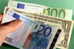 международные деньги Стоковое Фото