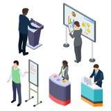Международные равновеликие предприниматели или тренируя вектор лекторов или промоутеров иллюстрация вектора