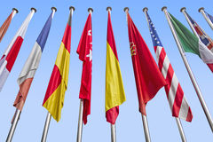 Международные флаги Стоковая Фотография RF