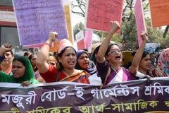 Международные women's Бангладеш наблюдаемый днем Стоковые Фотографии RF