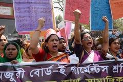 Международные women's Бангладеш наблюдаемый днем Стоковое Фото