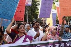 Международные women's Бангладеш наблюдаемый днем Стоковые Изображения RF