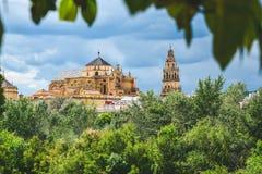 Международный взгляд большей мечети или католического собора Cordoba, Испания стоковое изображение