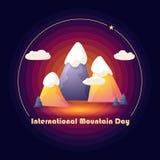 Международный день горы Ландшафт горы шаржа вектор стоковое изображение