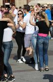 Международный день Flashmob Rueda de Казино, Стоковые Фотографии RF