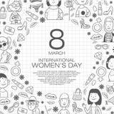 Международный день ` s женщины иллюстрация штока