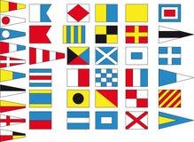 международный морской сигнал иллюстрация штока