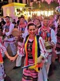Международный Мульти-культурный фестиваль в зоне прогулки города Дубай стоковое изображение rf