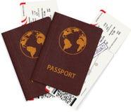 Международный пасспорт с билетом посадочного талона Стоковое Изображение