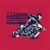 Международный плоский плакат чемпионата следа Стоковые Изображения RF
