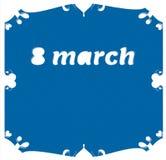 Международный счастливый день ` s женщин на марта, цветки 8 символа розовые Стоковые Фото