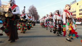 Международный фестиваль игр Surva Masquerade в Pernik сток-видео