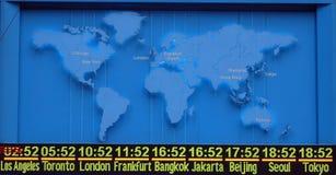 международный часовой пояс карты Стоковые Изображения RF