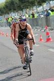 Международный Triathlon 2012, Женева, Швейцария Стоковое фото RF