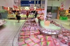 Междурядье мяса супермаркета Стоковое Изображение RF