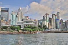 a между островом HK и Kowloon в HK Стоковое Фото