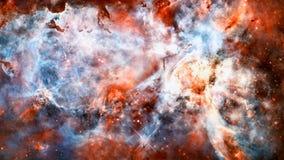 Межзвёздное облако, звезды и галактика в глубоком космосе стоковая фотография rf