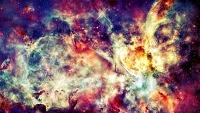 Межзвёздное облако, звезды и галактика в глубоком космосе стоковое изображение rf