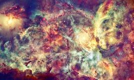Межзвёздное облако, звезды и галактика в глубоком космосе стоковая фотография