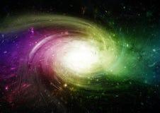 Межзвёздное облако звезд, пыли и газа в далекой галактике иллюстрация вектора