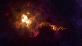 Межзвёздное облако и галактика глубокого космоса иллюстрация штока