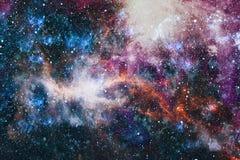 Межзвёздное облако и галактики в космосе Планета и галактика - элементы этого изображения поставленные NASA бесплатная иллюстрация