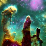 Межзвёздное облако космоса Космическое скопление звезд Предпосылка космического пространства Галактика играет главные роли предпо бесплатная иллюстрация